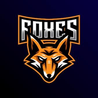 Фокс талисман логотип киберспорт игры иллюстрация