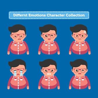 Коллекция персонажей разных эмоций