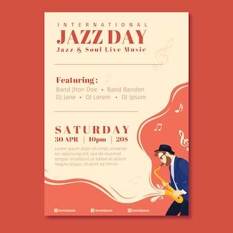 Музыкальный фестиваль и международный джазовый плакат