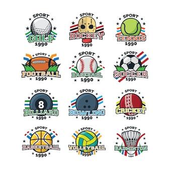 スポーツロゴイラストベクター