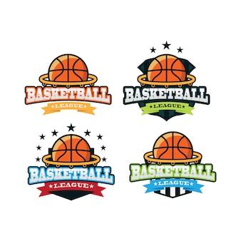 バスケットボールのスポーツロゴ
