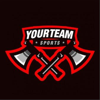 Красный топор игровой логотип
