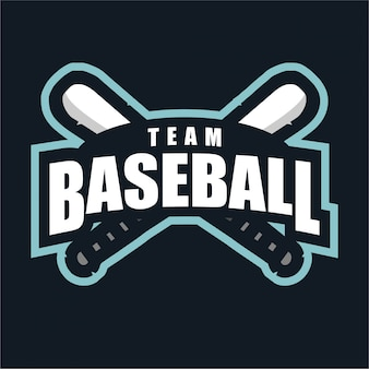 野球チームスポーツのロゴ