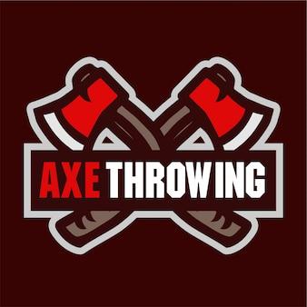 Топор, бросающий спортивный логотип