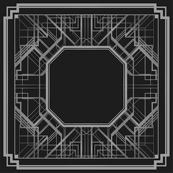 Арт-деко стиль геометрическая рамка границы дизайн фона