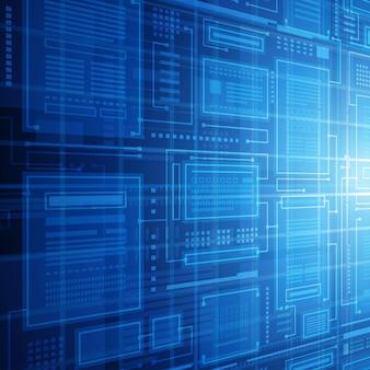 Абстрактный фон вектор технологии базы данных.