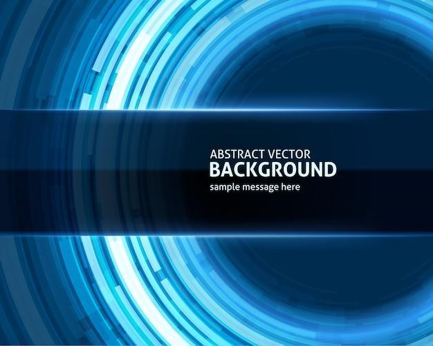 抽象的なテクノロジーサークル光デジタル背景を持つ行。