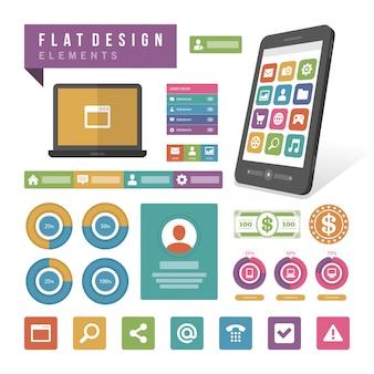 平らなベクトルイラストインフォグラフィックデザイン要素