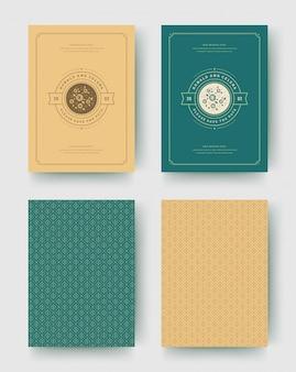 結婚式の招待状は、日付カードヴィンテージ活版印刷テンプレートデザインを保存します。
