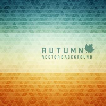 秋の抽象的な幾何学的な三角形の背景