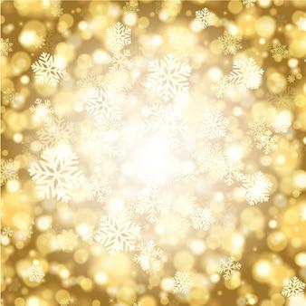 クリスマス冬の魔法の雪の輝きライトと雪