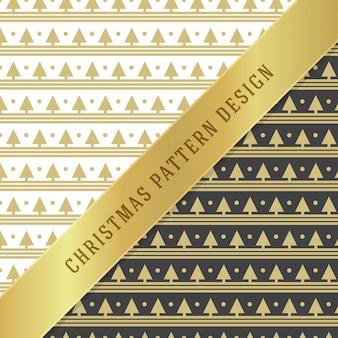 包装紙のクリスマスパターン