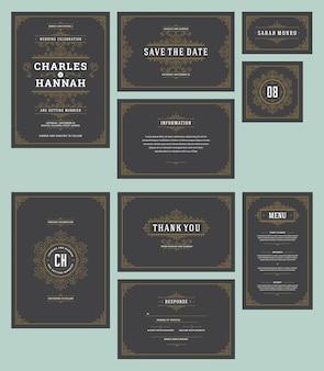 結婚式の招待状を設定します。