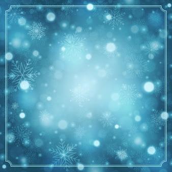 Новогодний зимний фон волшебный снег сверкает
