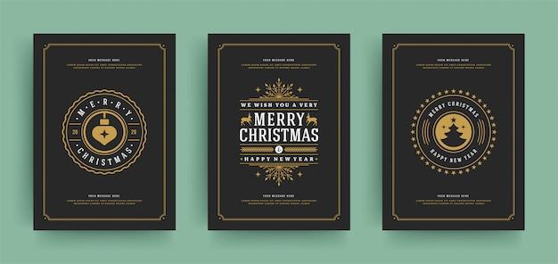 テキストフレームとクリスマスのグリーティングカード