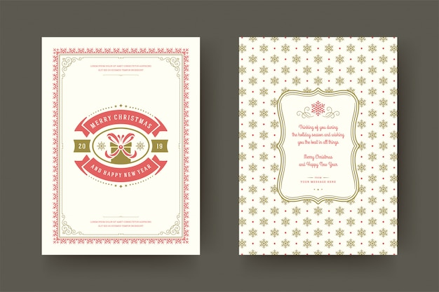 Рождественская открытка винтаж типографская