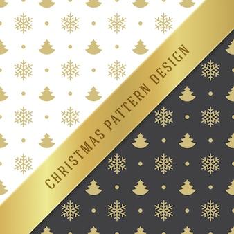 包装紙とグリーティングカードのクリスマスのシームレスパターン