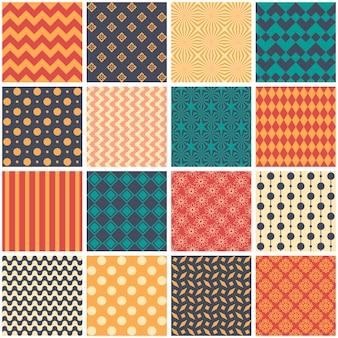 パッチワークのスタイルでシームレスなパターン、ベクトル。