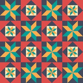 パッチワークのスタイルでのシームレスなパターン