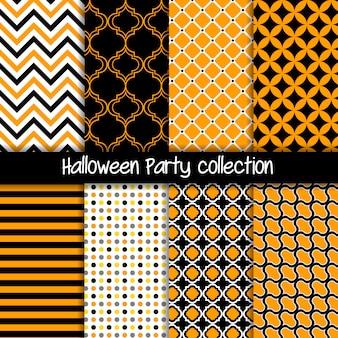ハロウィーンパーティーの幾何学的なシームレスパターン