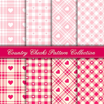 ピンクの赤ちゃん女の子国心シームレスパターンコレクションとチェックします