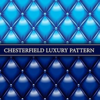 青と海軍のエレガントなチェスターフィールドのシームレスパターン