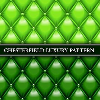 緑のエレガントなチェスターフィールドのシームレスパターン