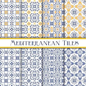 美しい地中海の伝統的なタイルを塗装