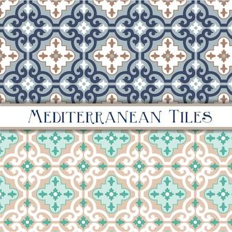 Нежные цвета геометрических средиземноморских узоров
