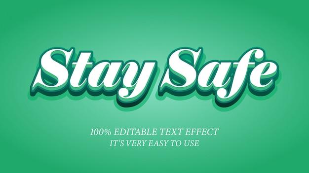 安全なテキスト効果を維持する
