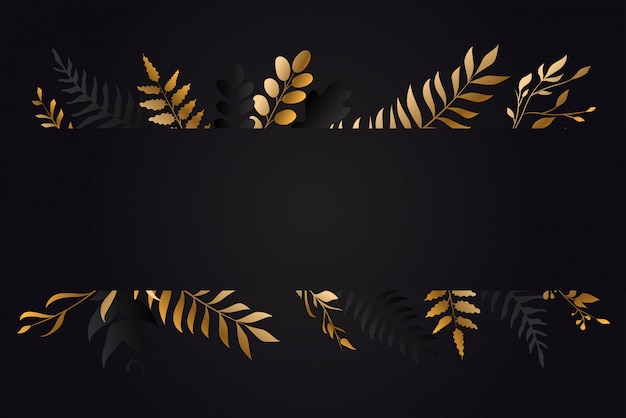 Золотой цветочный дизайн карты зелени
