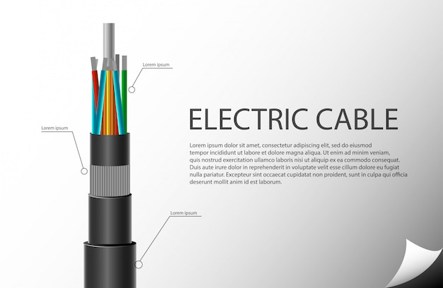 Шаблон электрического кабеля