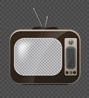 レトロなテレビ。古い学校のテレビ。