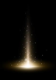 Золотая вспышка с блеском огней.