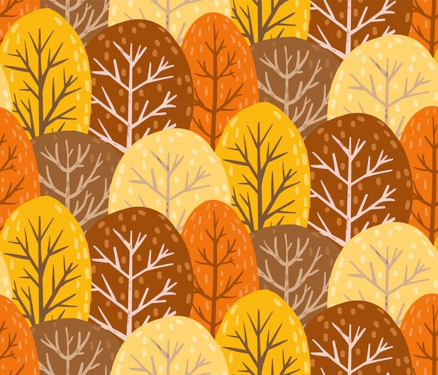 Осенний лес бесшовные модели. бесконечная текстура.