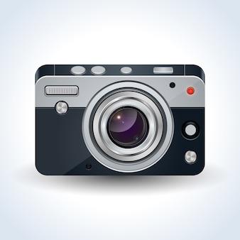 リアルなデジタル写真カメラのベクトル図