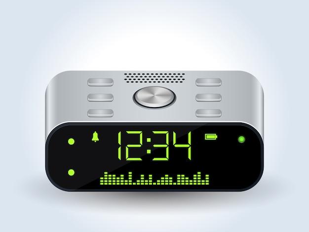 現実的なデジタルデスクトップ時計