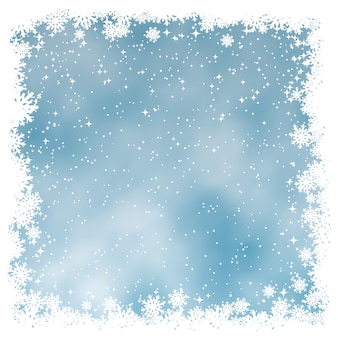 雪のクリスマスの背景