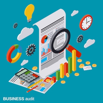 事業監査、財務分析、統計