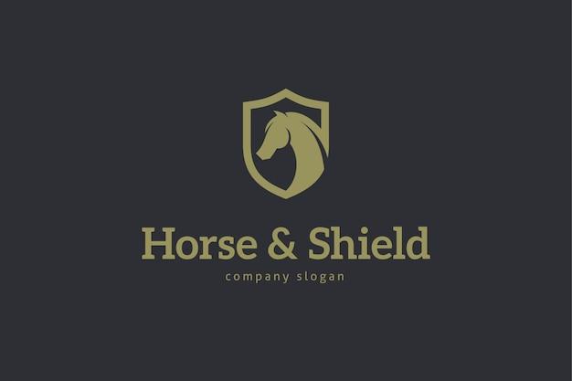 Шаблон логотипа лошади