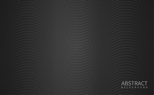 Черный фон с волнистой линией
