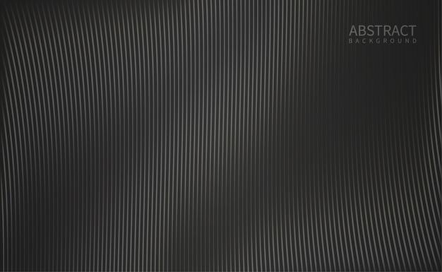 黒の背景に輝く波線