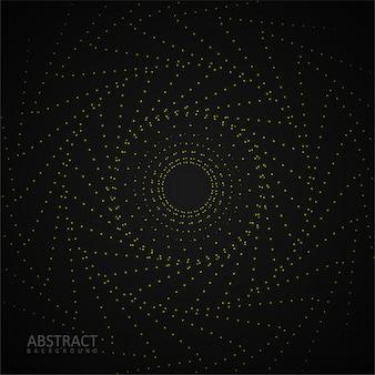 黒の背景に輝くドットパターン