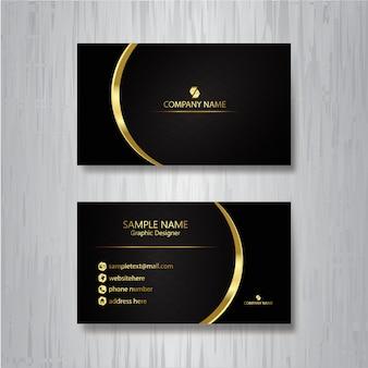 Роскошная черная визитка с золотым акцентом