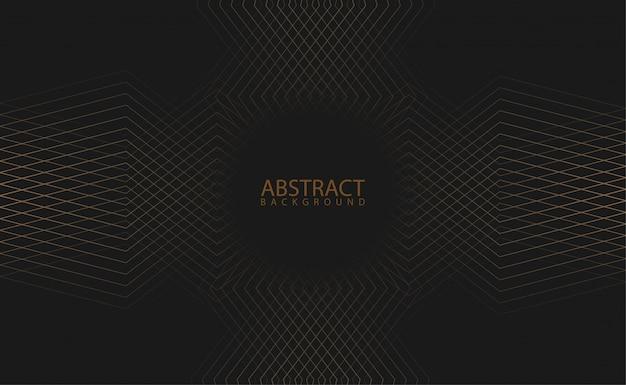 黒の背景にシンプルな幾何学模様