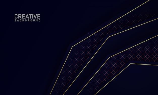 オーバーラップ形状とキラキラとミニマリストの青い背景