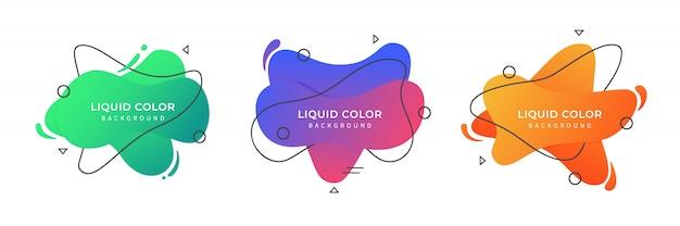 液体の色の背景を設定する