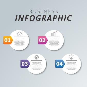 ビジネスモダンなインフォグラフィック