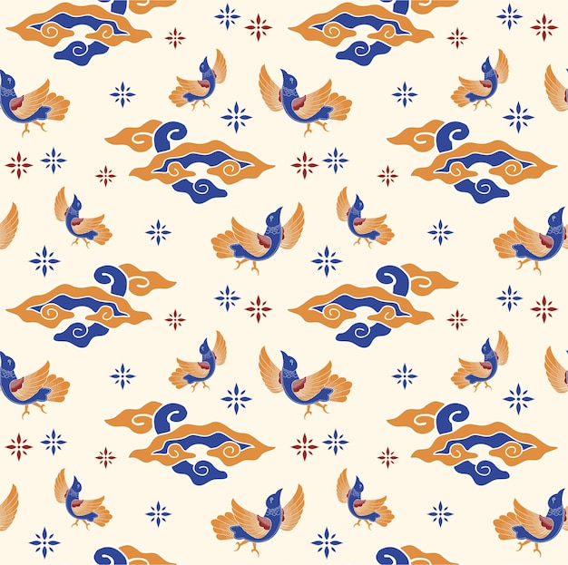 踊る鳥の模様