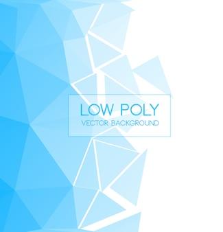 青色の低いポリ背景